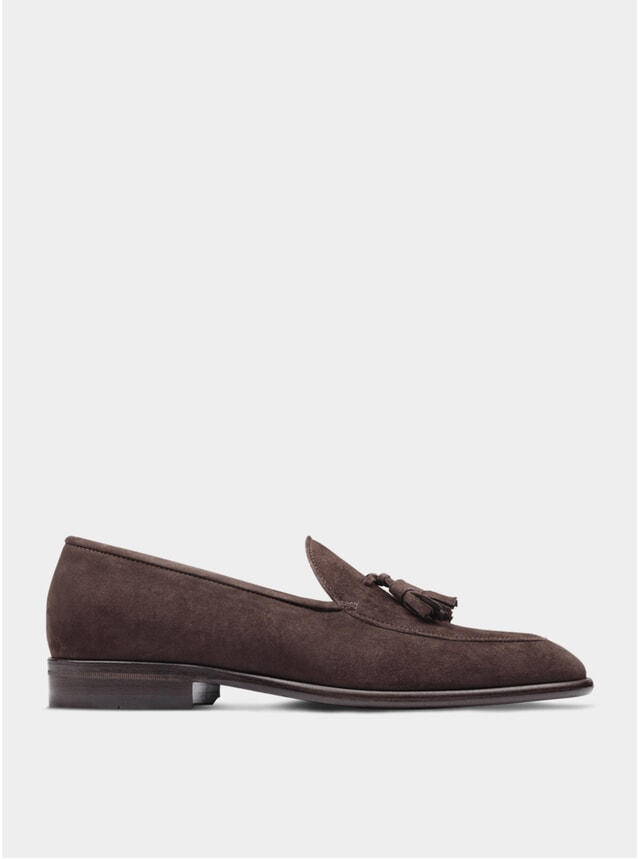 Brown Suede The Sixth Son Tassel Loafers
