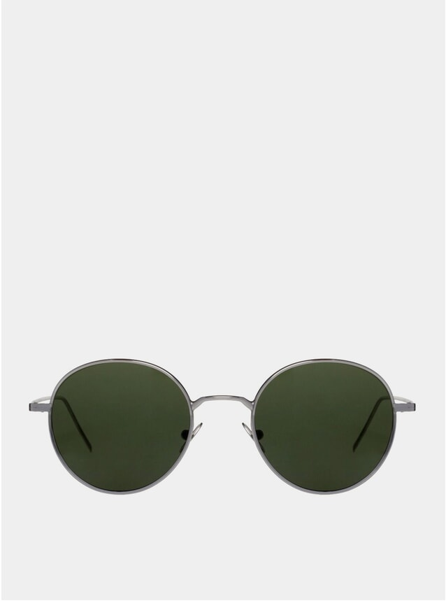 Bottle Green / Ulster Rhodium Sunglasses