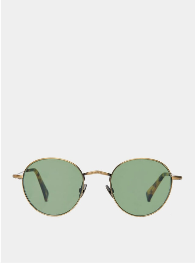 Brass / Bottle Green Vicuna Sunglasses