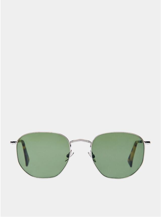 Rhodium Mohair Sunglasses