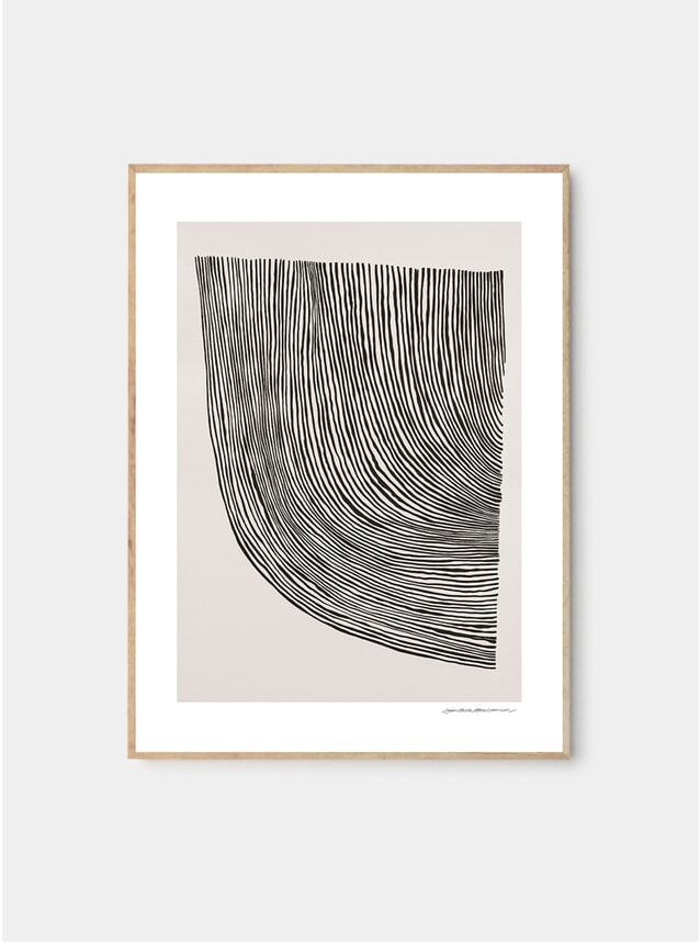 Curves Print by Leise Dich Abrahamsen
