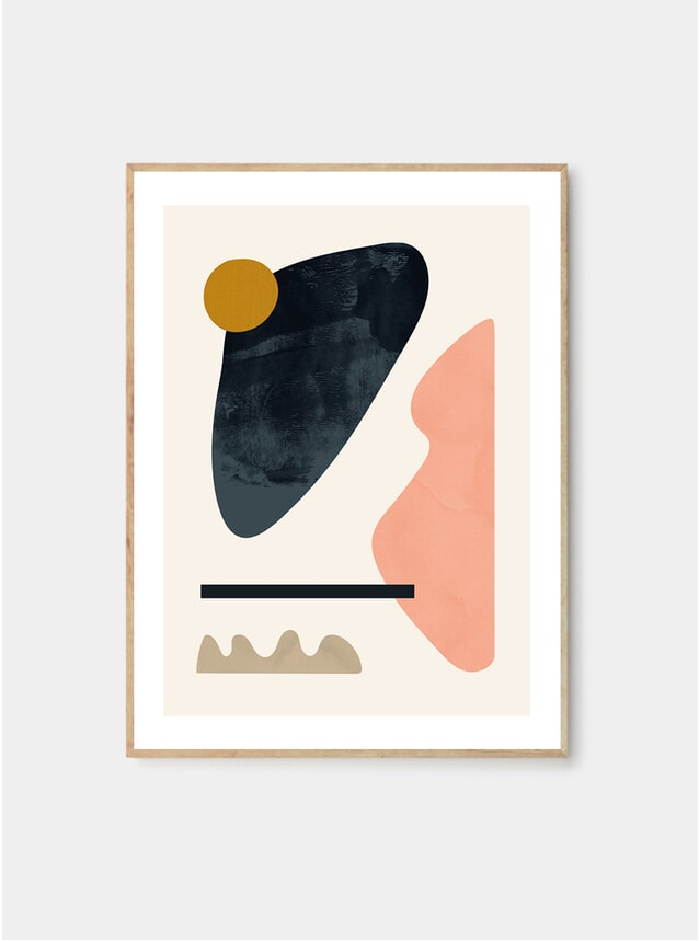 Floating Shapes 05 Print by Jan Skacelik