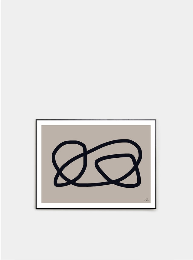 Organic Lines 01 Print