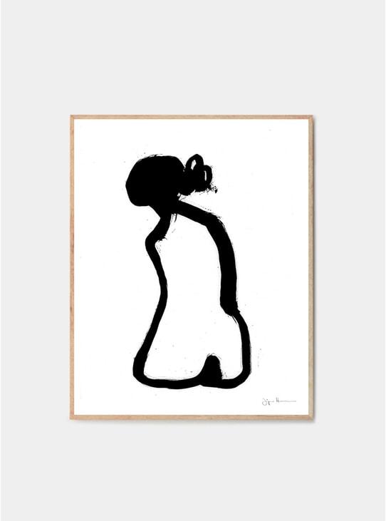 Sitting Woman I Print by Jorgen Hansson