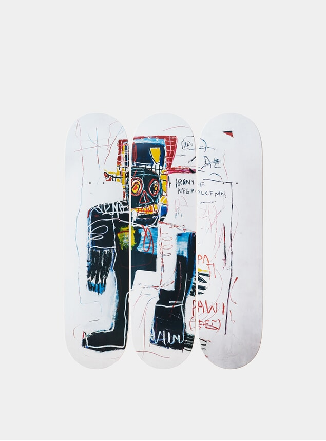 Jean-Michel Basquiat's Irony of a Negro Policeman Triptych