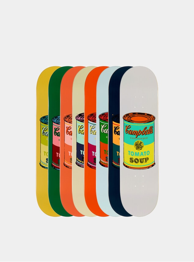 Andy Warhol Set of 8 Coloured Campbell's Soup Cans