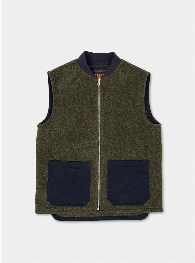 Green English Wool Gilet