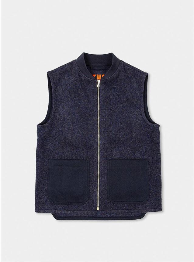 Navy English Wool Gilet