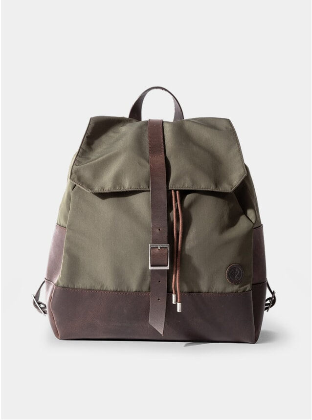 Olive Green Nylon Weston Rucksack