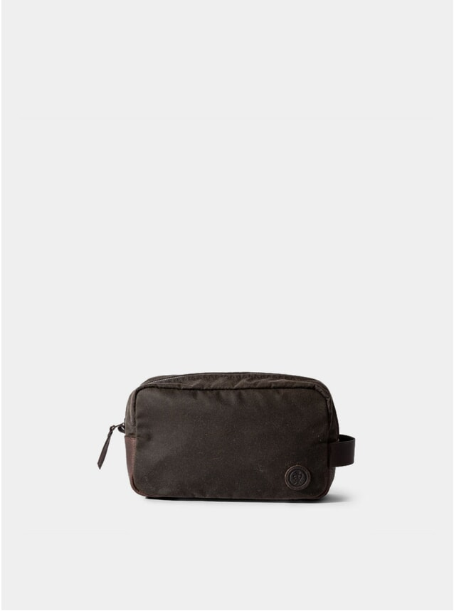 Olive Waxed Cotton Brindley Wash Bag