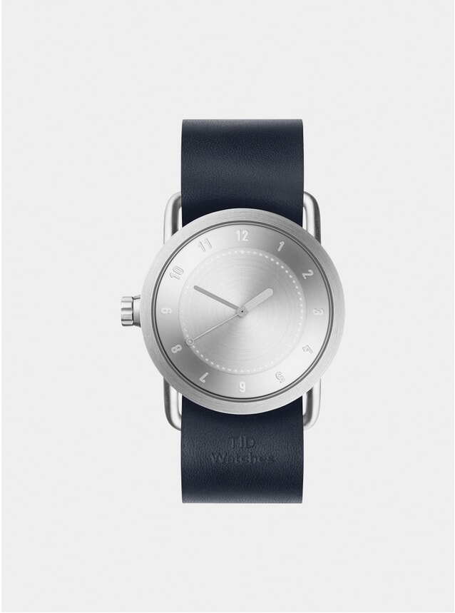 Steel / Navy Leather No.1 Watch