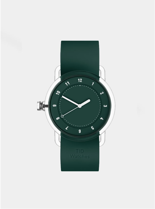 No.3 Green / Green Silicone Watch