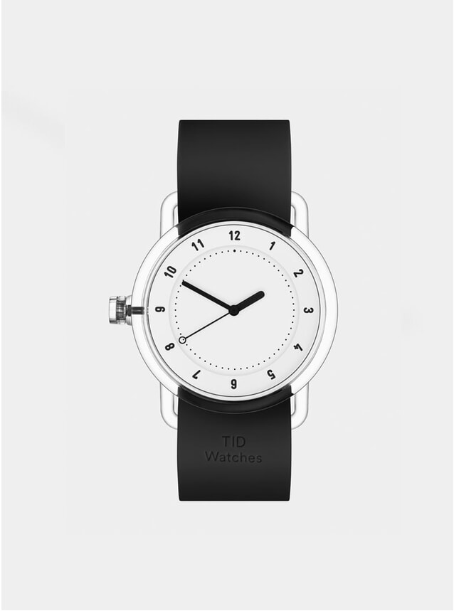 No.3 White / Black Silicone Watch