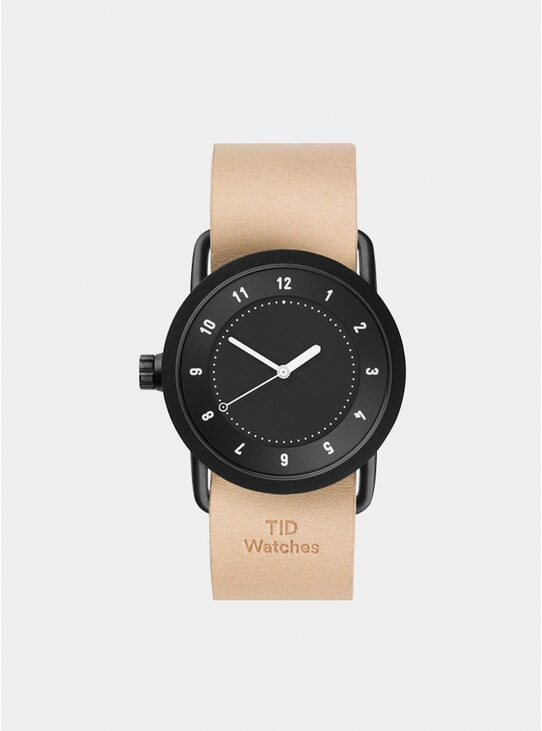 Black / Natural Leather No.1 Watch