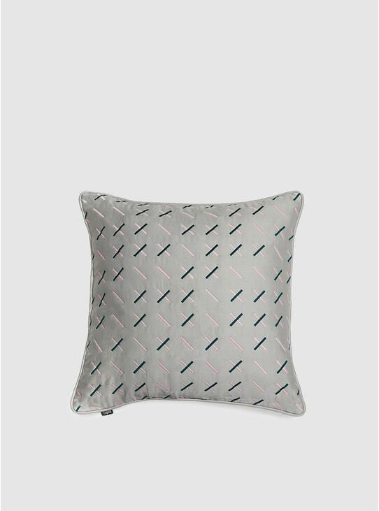 Grey Modern Kantha Cushion