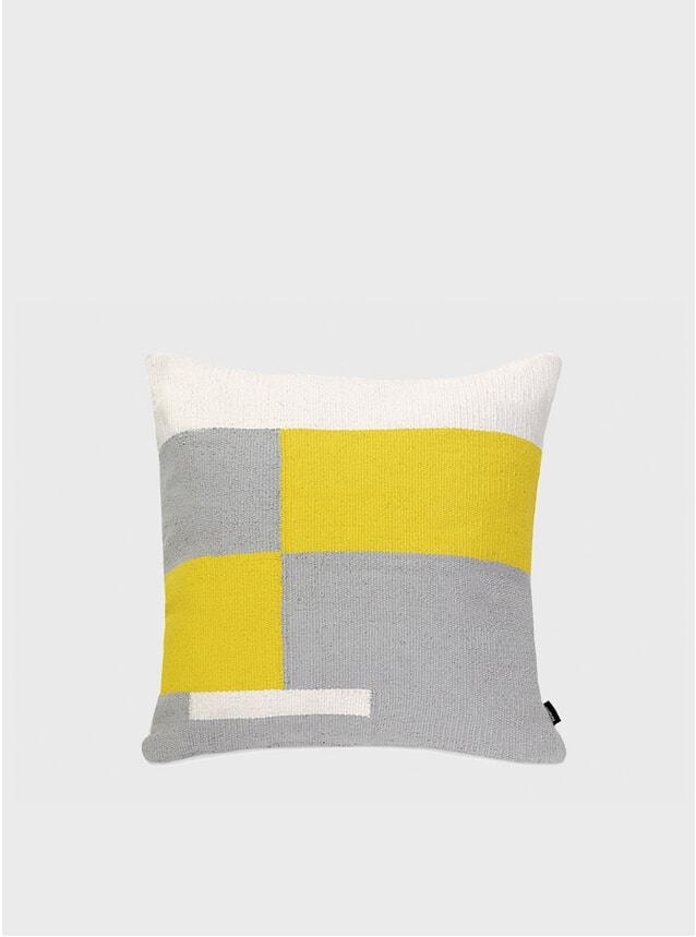 Grey / Yellow Jama-khan Cushion
