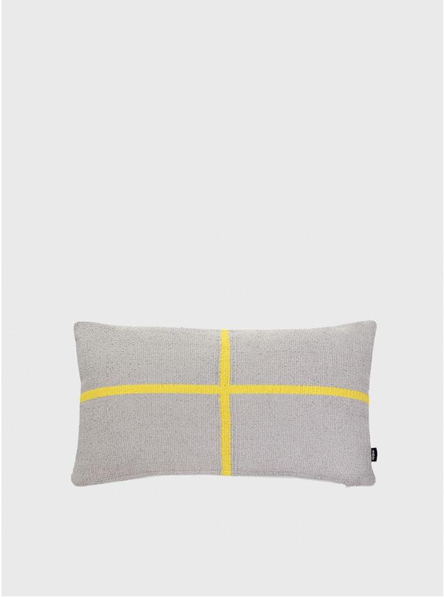 Grey / Yellow Jama-khan Rectangle Cushion