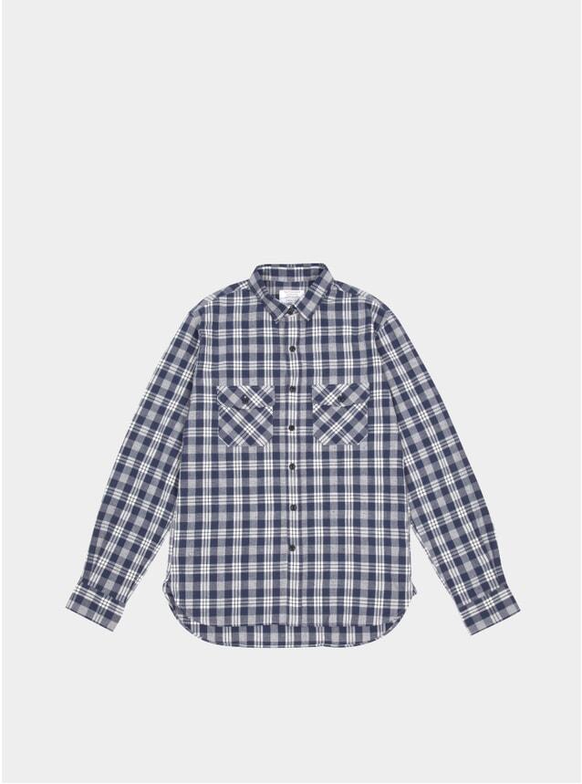 Navy / White Check Work Shirt