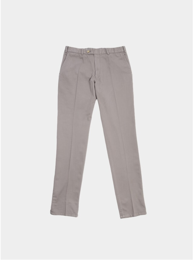 Taupe Washed Programme Cotton Trousers
