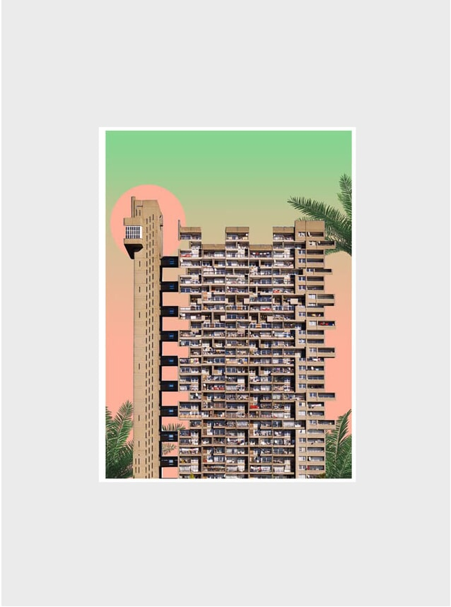 Sunrise / Trellick Tower Print