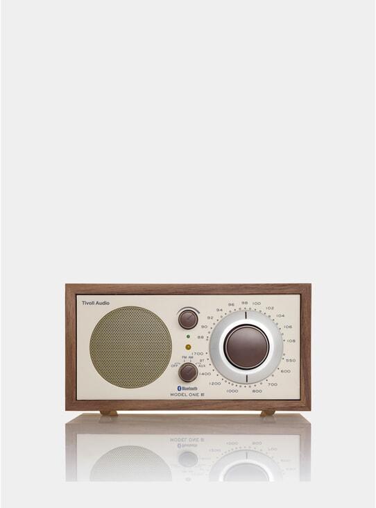 Walnut / Beige Model One Bluetooth Radio