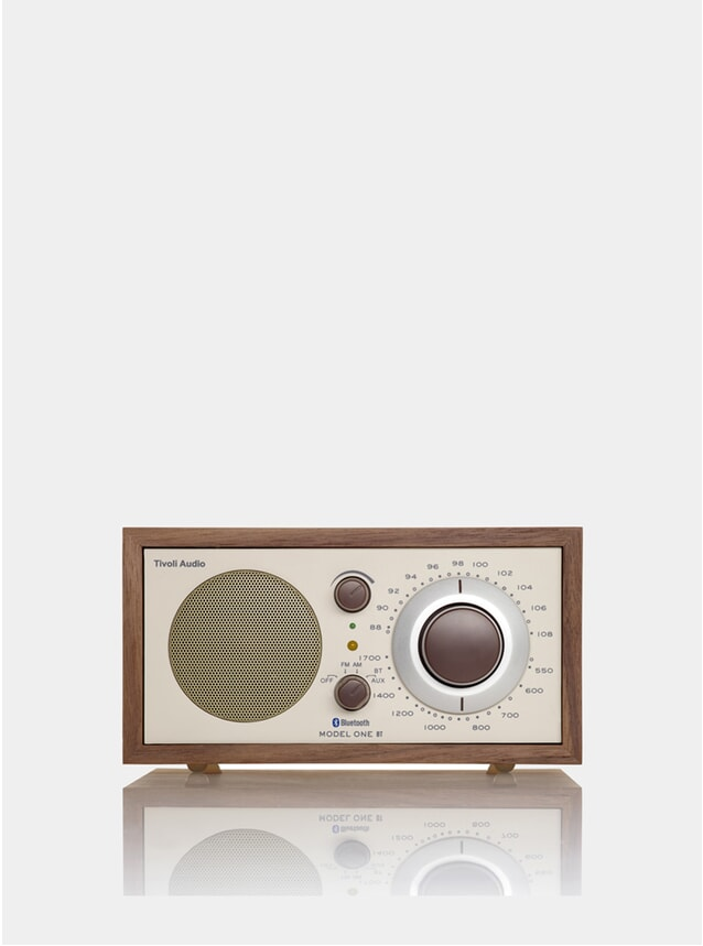Walnut / Beige Model One Bluetooth Radio