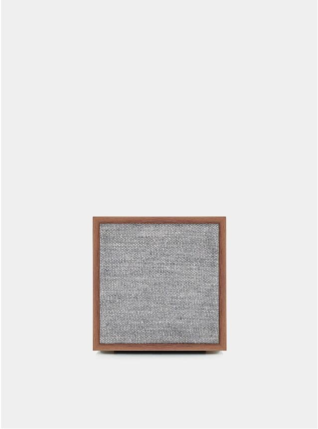 Walnut / Grey Cube Speaker
