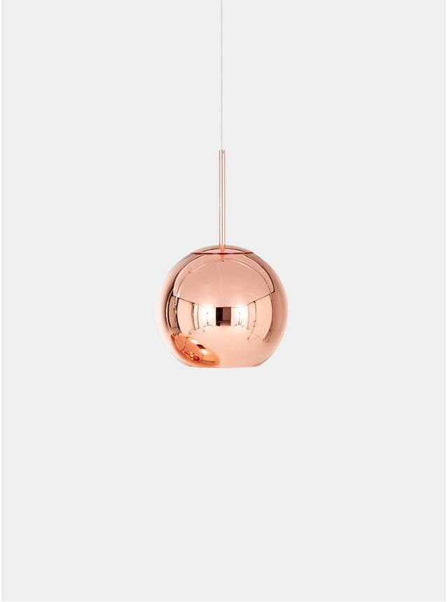 Copper Round 25cm Pendant Light