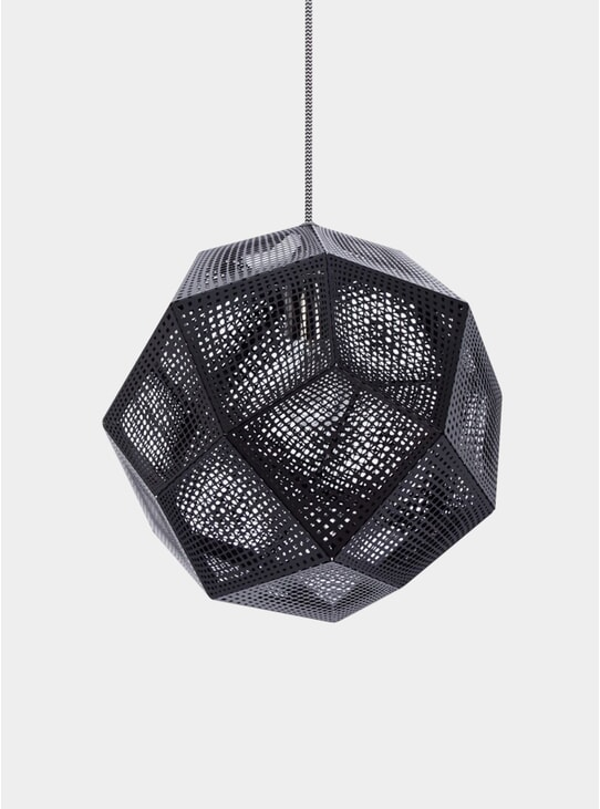 Black Etch Pendant Light