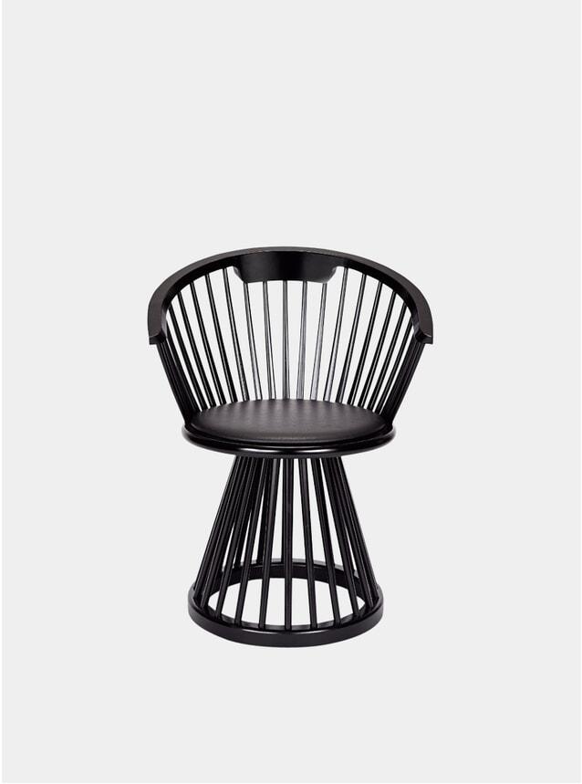 Black Fan Dining Chair
