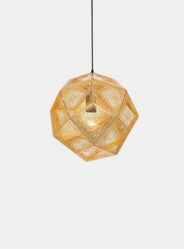 Brass Etch Pendant Light