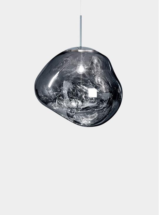 Chrome Melt Pendant Light