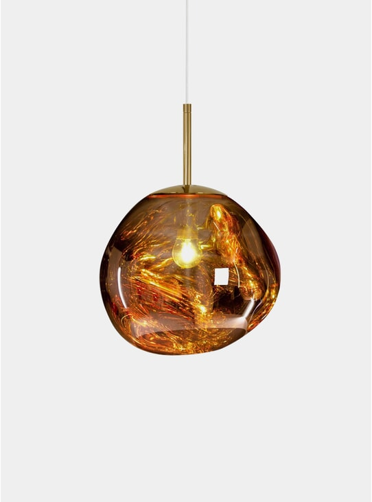Gold Mini Melt Pendant Light