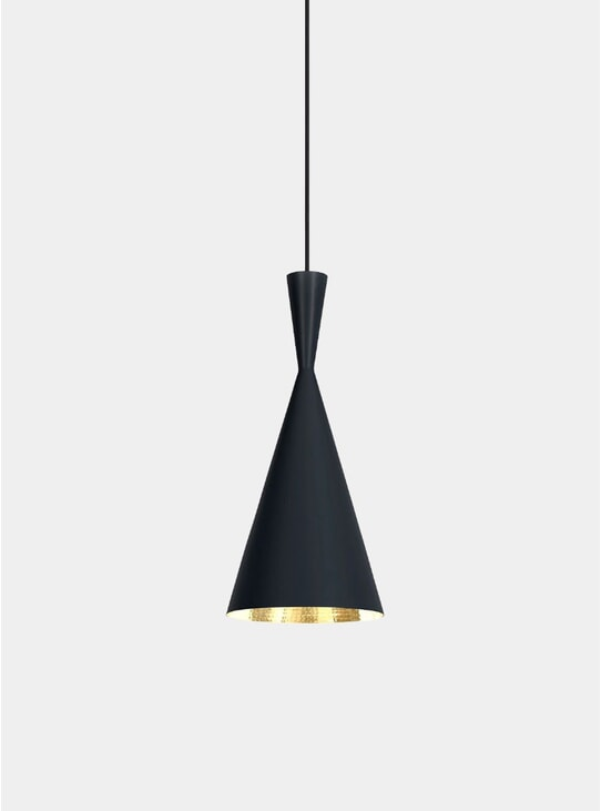 Black Beat Tall Pendant Light