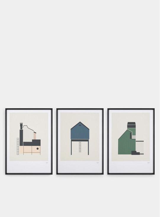 Tin Shed Set of 3 Prints