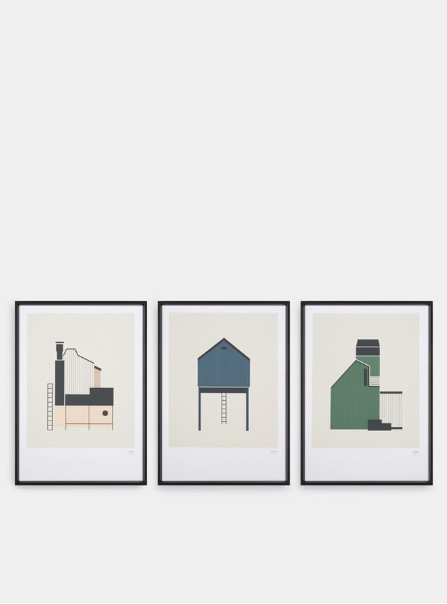 Tin Shed Set of 3 Prints