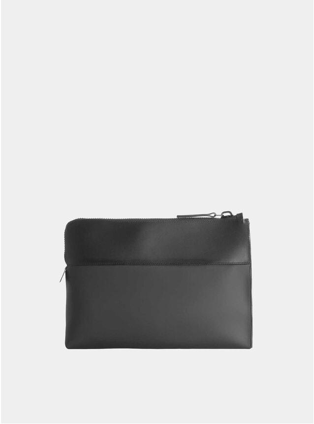 Black Nylon / Leather Portfolio Case