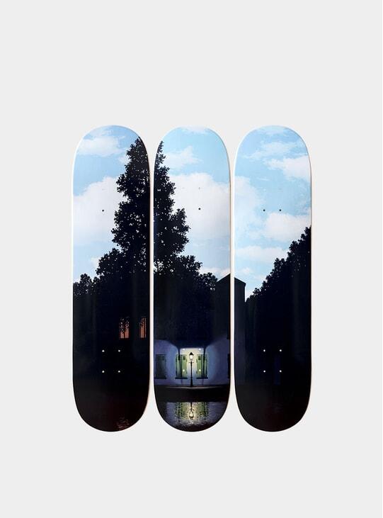 René Magritte's L'empire des lumières Triptych