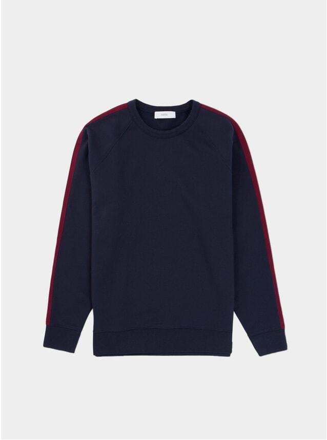 Darl Navy / Red Raglan Track Sweater
