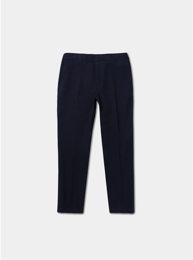 Fine Texture Illusion Trousers