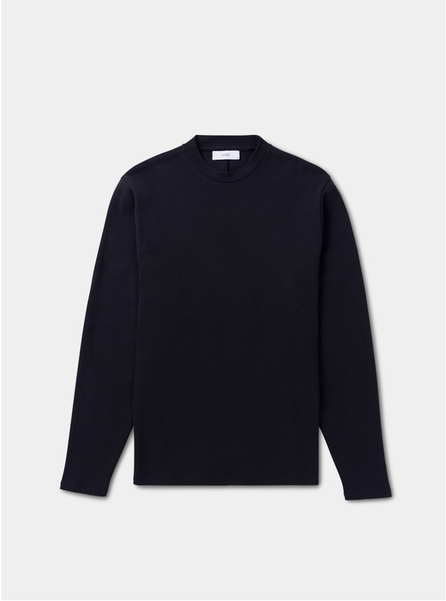 Midnight Navy Interlock Trunk Crewneck