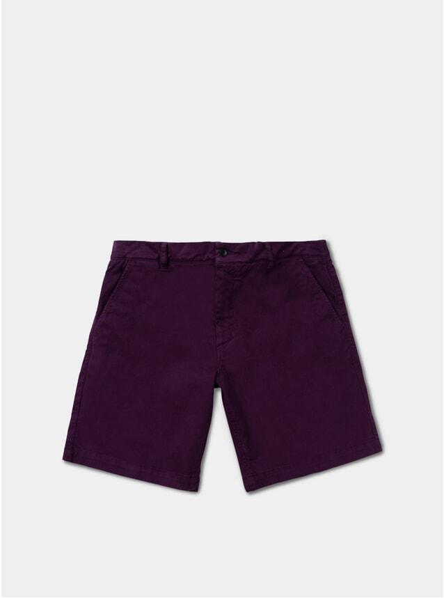 Purple Chino Bermuda Shorts