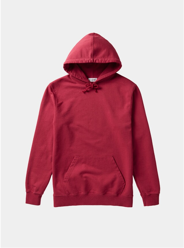 Red Organic Cotton Hoodie