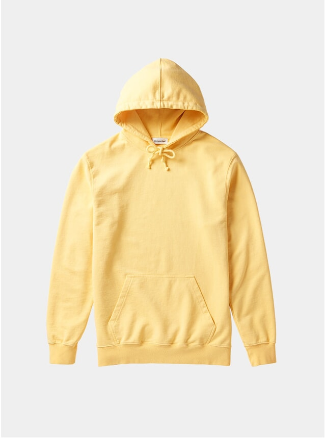 Yellow Organic Cotton Hoodie