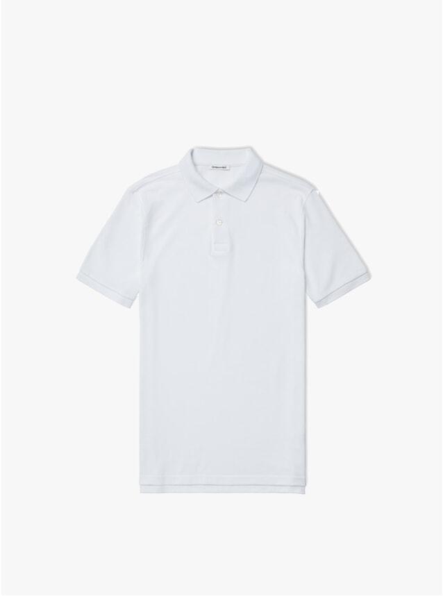 White Pique Polo