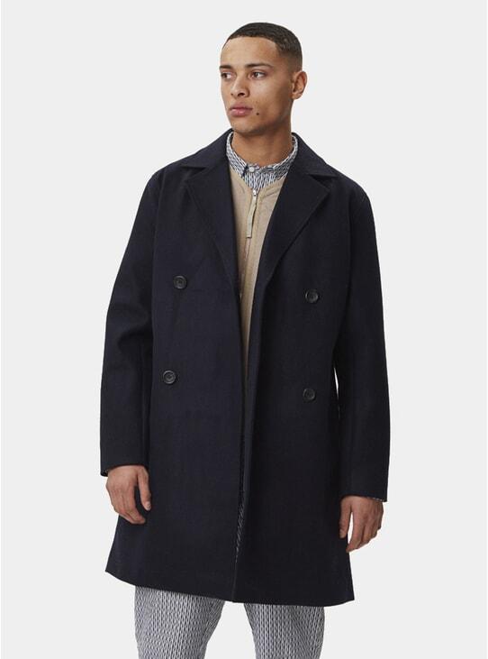Navy Frankie Wool Coat