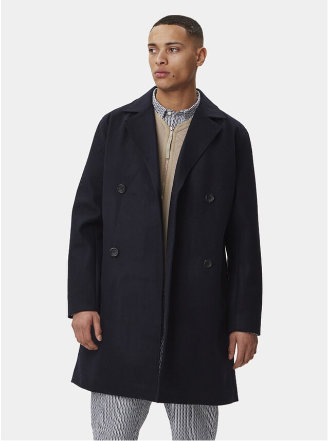 Navy Frankie Wool Coat
