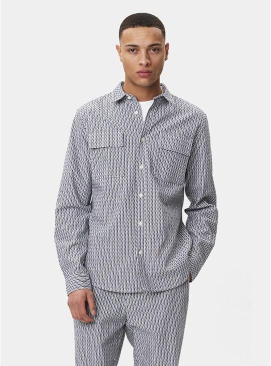 Navy Striped Amalfi Shirt
