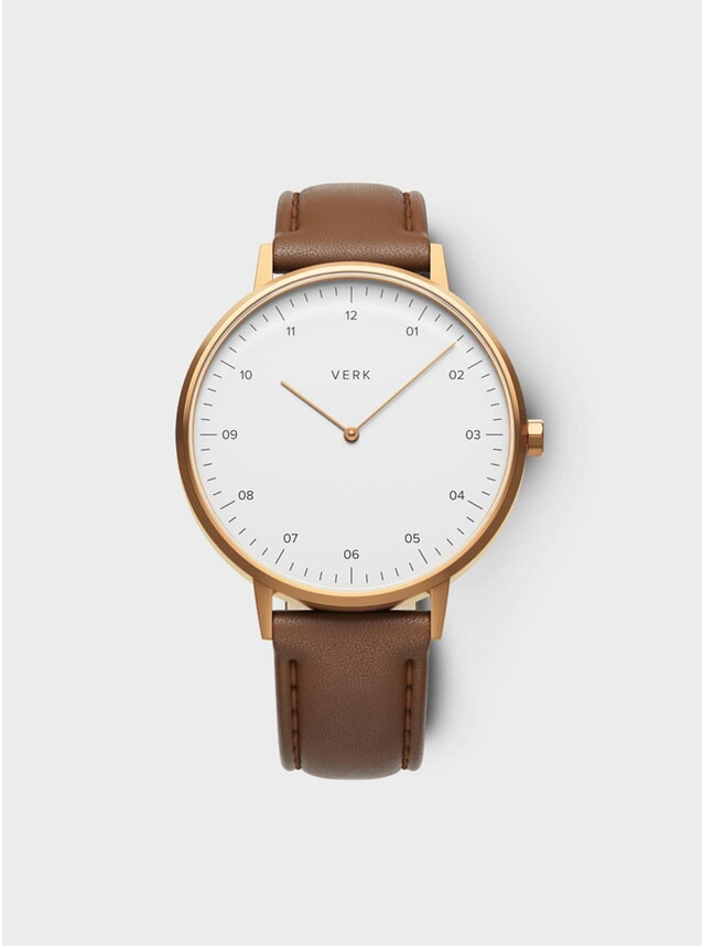 ETT 08 Rose Gold / Tan Leather Watch