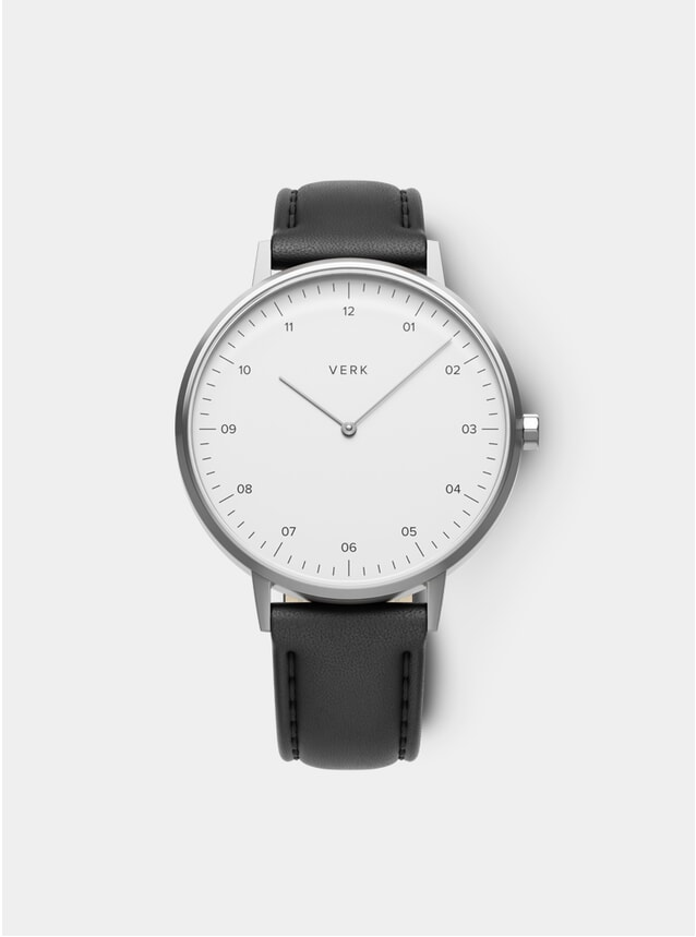ETT 05 Silver / Black Leather Watch